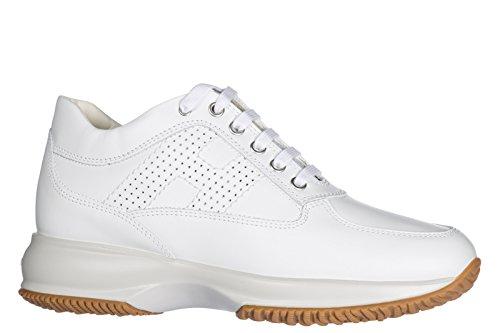 Leder Hogan Damen Damenschuhe Interactive Turnschuhe Weiß Schuhe Sneakers qq6tv
