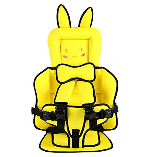 AMILIEe Child Baby car seat Protector, 2-in-1 Harness Booster Car Seat, Travel Car Seat, Fix High Back Booster for 9 Month-12 Years Old (Yellow, 1)