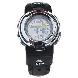 Casual Water-proof Sports Digital Wrist Watch Blacklight Stopwatch Alarm for Girls Boys (Black)