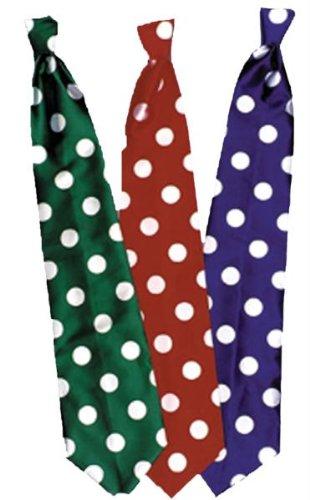 Tie Long Clown Blue ()
