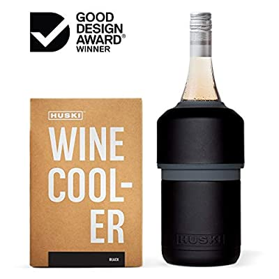 Huski Wine Cooler | Premium Iceless Wine Chiller | Keeps Wine or Champagne Bottle Cold up to 6 Hours | Award Winning Design | New Wine Accessory | Perfect Gift for Wine Lovers
