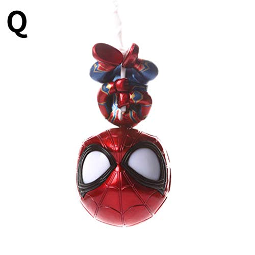 WJBFQY FH Miracle Avengers 3, Spider-Man Action Characters Cute Creative Toys - 9cm ( Color : Q -