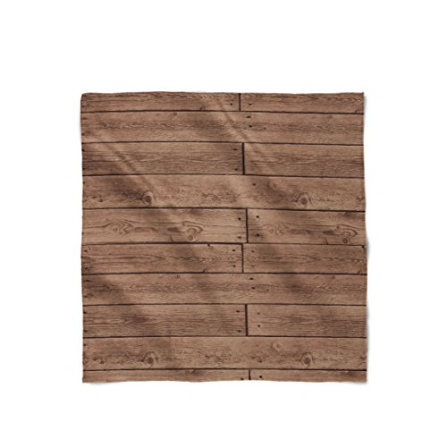 Style Floorboards (Reclaimed Floorboards Wood Pattern Satin Style Scarf - Large Square (36x36))