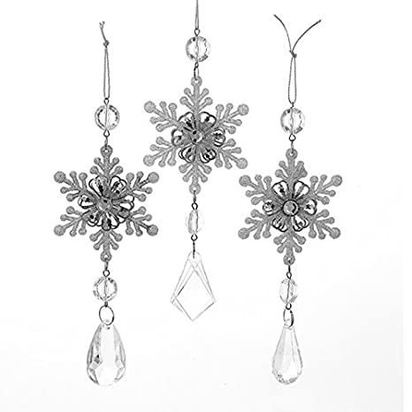 Snowflake Drop Ornaments