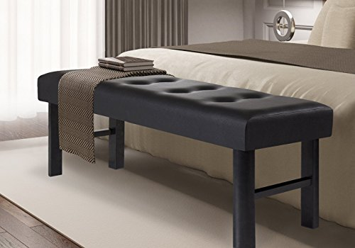 olee-sleep-18-tall-upholstered-bed-bench-faux-leather-black