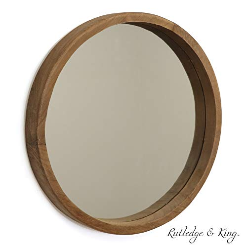 Rutledge & King Riverside Wooden Mirror - Wood Wall Mirror - Rustic -