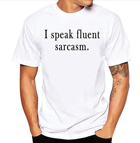 8c6487313 grean Polyester Round/Crew Neck Trending Men's White Printed T-Shirt: I  Speak Fluent Sarcasm: Amazon.in: Clothing & Accessories