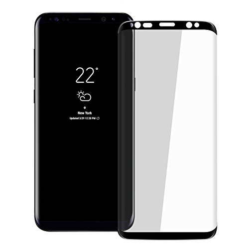 "Galaxy S8 Plus HD Screen Protector, Pueryin [Update Design] [Case Friendly] [3D Curve] 9H Hardness Tempered Glass Screen Protector, for Samsung Galaxy S8 Plus/S8+ (6.2"") Black from Pueryin"