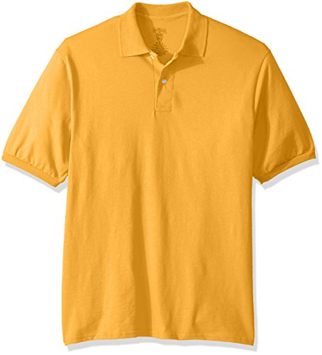 T-shirt Sleeve Garment Washed Short (Jerzees Men's Spot Shield Short Sleeve Polo Sport Shirt, Gold, 3X-Large)