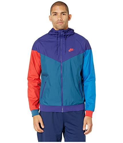 NIKE Men's Windrunner Full Zip Jacket (Regency Purple/Blu Frce/Medium) (Nike Mens Windrunner Full Zip Running Jacket)