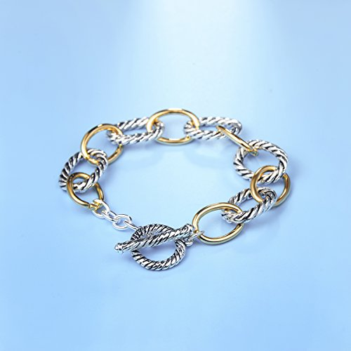 UNY Bracelet Designer Brand Inspired Antique Women Jewelry Cable Wire Vintage Valentine Christmas Gift by UNY (Image #3)