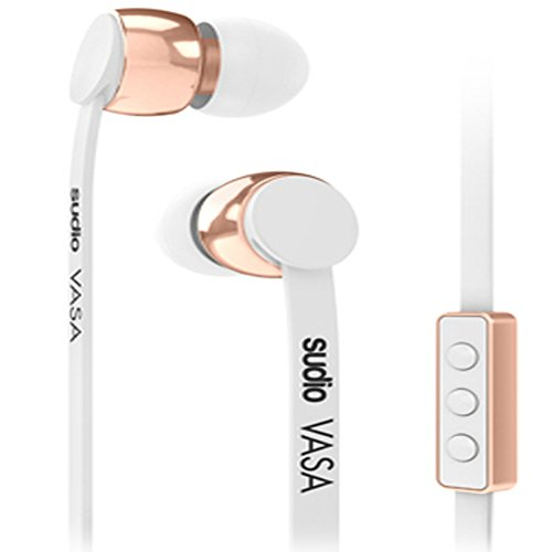 Sudio Vase In-Ear Classic Hi-Tech Hand made Quality Design 10mm Micro Remote Earphone White