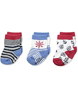 Big Boys' At The Helm Socks-3 Pack