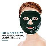 Facial Tissue Cvs - Gemtune Hot Cold Facial Ice Mask, Freezable Reusable Face Clay Pad, for Acne, Swollen Face, Puffy Eyes, Dark Circles, Headache, Migraine, Sinus Relief