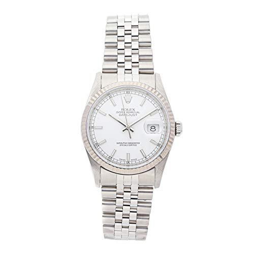 Rolex Datejust Mechanical (Automatic) White Dial Mens Watch 16234 (Certified Pre-Owned)