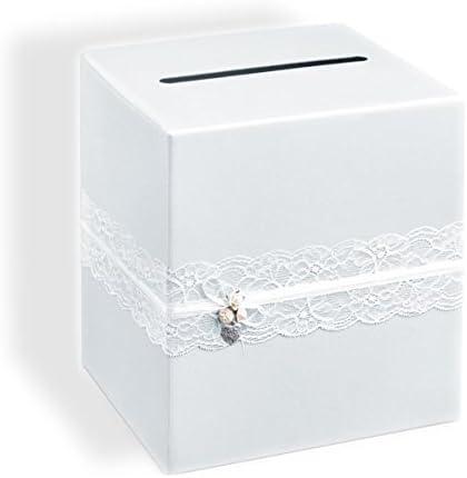 Unbekannt Caja de Dinero/Carta Caja/Caja Boda en Blanco Estilo Vintage con Punta Blanca – Ideal para Correo, Tarjetas de Boda & Dinero Regalos a su Boda: Amazon.es: Hogar
