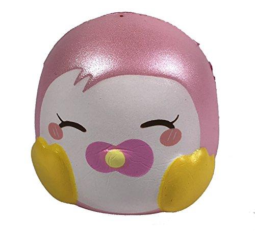(Puni Maru Mini Happy Penguin Squishies - Pink Eyes)