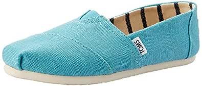 TOMS Canvas Women Classic, Womens Shoes, Blue (Marine Blue Heritage Canvas), 5.5 US