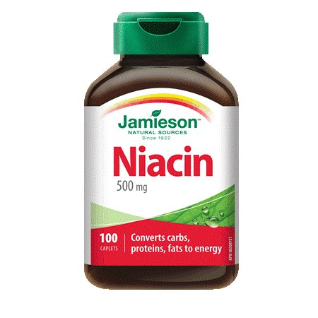 (Vitamin B3 Niacin 500 mg-100 caplets Brand: Jamieson Laboratories)