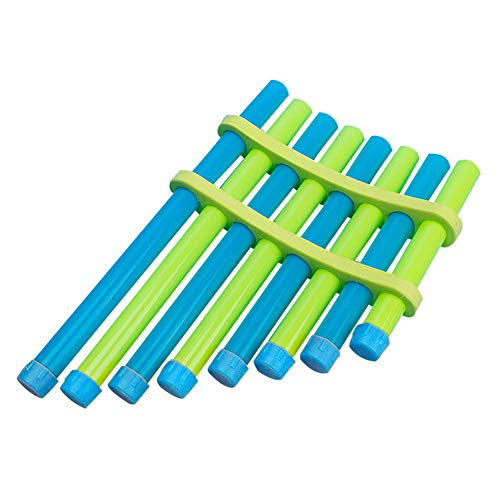 DIY Panflute Children Handmade Music Toy Pan Flute Musical Instruments for Kids & Student (Random Color) ()