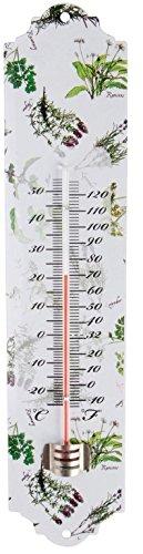 Esschert Design USA Herb Print Galvanized Steel Thermometer