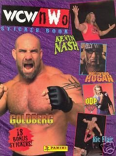 WWF WWE WCW/NWO WRESTLING 1999 PANINI NON-LAMINATED PAPER BACK STICKER ALBUM