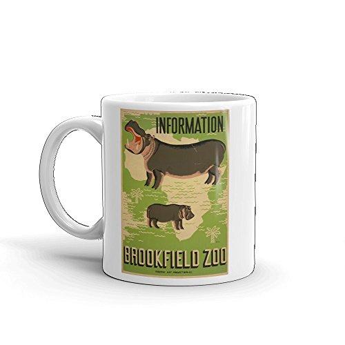 Vintage poster - Brookfield Zoo 1663 - Glossy White Ceramic Mug (11 oz.) -