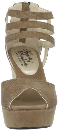 Cuore Grido Womens Cage Wedge Sandal Coffee