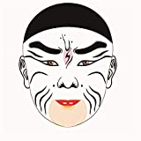 numbered makeup brushes - Paint-by-Number Kits for Adults - Beijing Opera Facial Makeup - Includes Brushes, Paints and Numbered Canvas - 16x20 Inch - Great for Kids and Adults,Without Frame