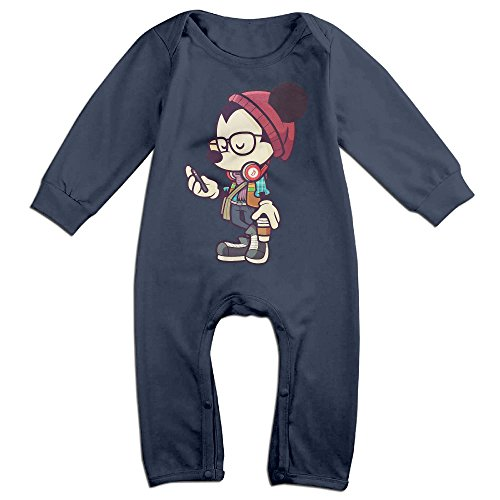 Anarchy Of Costume Sons Diy (Z-Jane Hipster Mouse Newborn Babys Long Sleeve Bodysuit Outfits Navy 12)