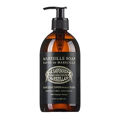 LSM Soaps Le Savonnier Marseillais Liquid Hand Soap, Fragrance Free, 16.9 Fluid Ounce