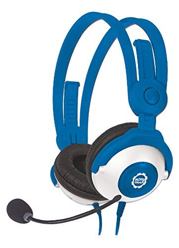 Deluxe Gear - Kidz Gear Deluxe Headset Headphones with Boom Mic - Blue