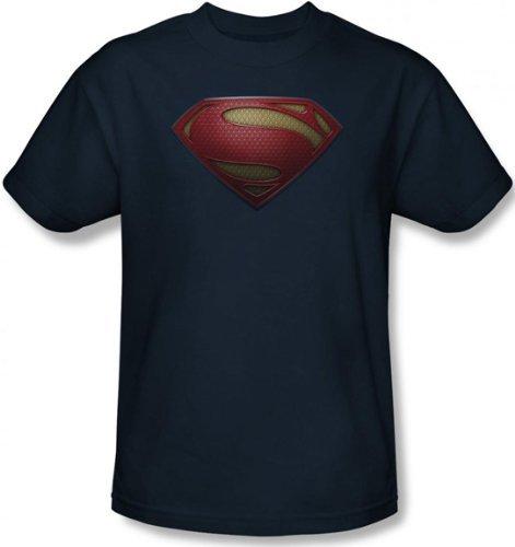 T-Shirt - Man of Steel - MoS Shield Men's Navy Size S (Buy Man Of Steel)