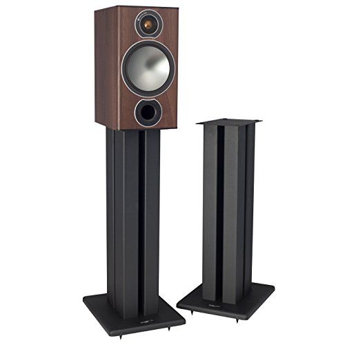 Pangea Audio DS400 Heavy Duty Speaker Stands (24 (Oak Pedestal Speakers)