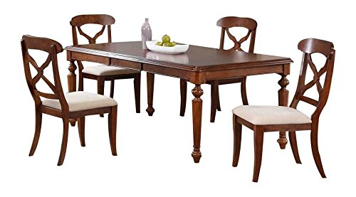 Sunset Trading 5-Pc Butterfly Leaf Dining Set in Distressed Chestnut ()