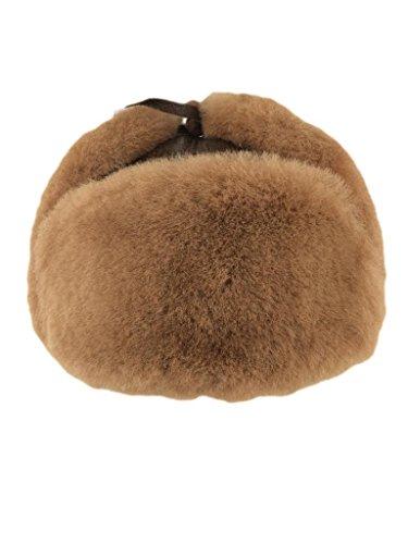 Zavelio Shearling Sheepskin Leather Aviator Russian Ushanka Trapper Winter Fur Hat