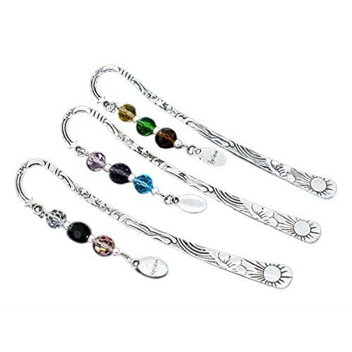 Housweety Silver Bookmarks Crystal Believe product image