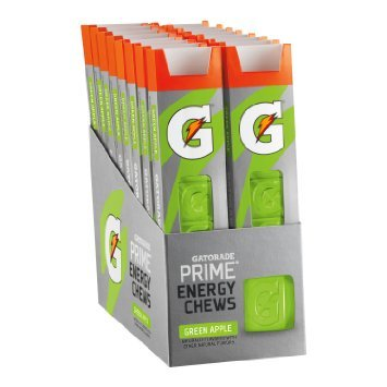 Gatorade Prime Energy Chews, NEW! Green Apple 16 Pack