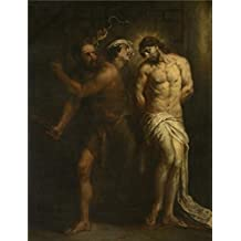 Oil painting 'Jan Cossiers - Flagellation, 17th century' printing on high quality polyster Canvas , 30x39 inch / 76x100 cm ,the best Kitchen decoration and Home artwork and Gifts is this Vivid Art Decorative Prints on Canvas