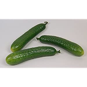 Designer Decorative Two (2) Artificial Faux Fake Small Cucumber Vegetable 32