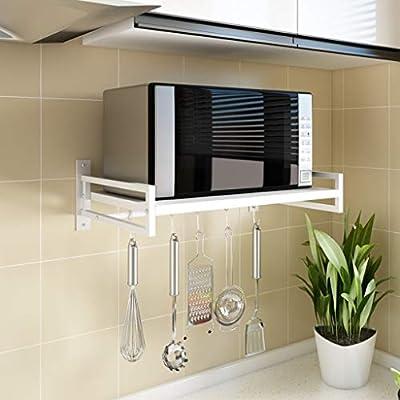 Hclshops encimera de la Cocina Rack de Cocina Soporte de Almacenamiento multifunción de Pared 53 * 35 * 18cm Negro (Color : White, Size : 53cm): Amazon.es: Hogar