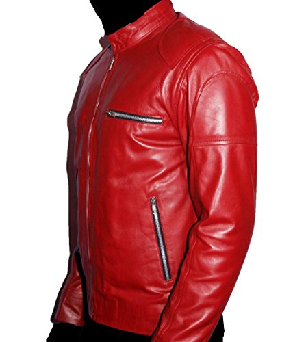 HLS Men's Owens Soft Faux Red Leather Jacket