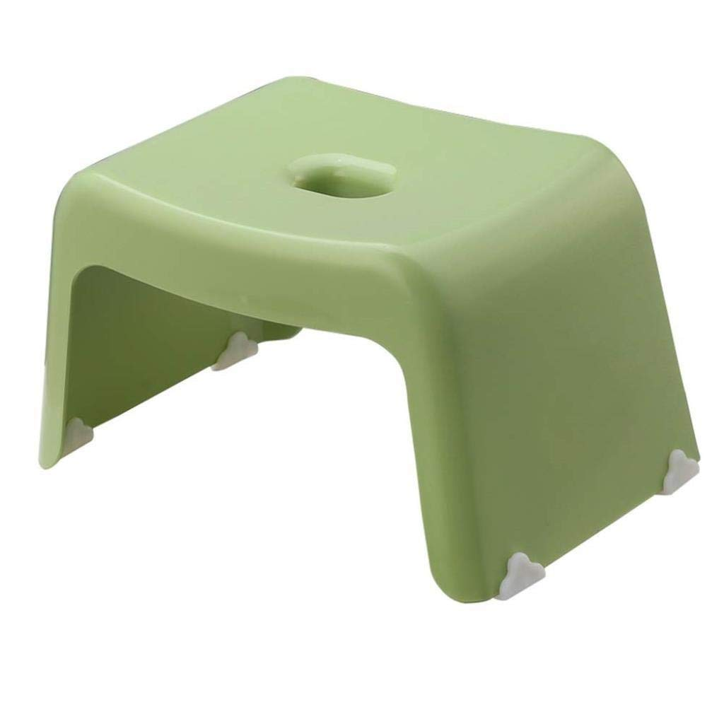 RDMZ Stool Footstool Plastic Thickening Adult Bathroom Stool Children's Shoes Bench (Color : Green, Size : 33.520.519cm)