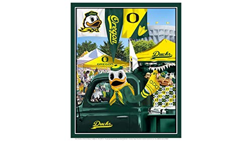 (University of Oregon Cotton Fabric Panel with Tailgate Design-Sold by The Panel)