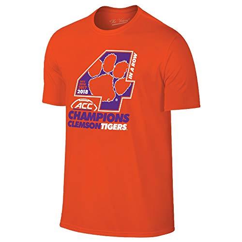 (Clemson Tigers 2018 Acc College Football Champions 4X Locker Room T-Shirt (M))