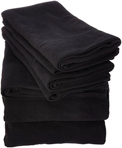 Peak Performance SHET20-733 Fleece Sheet Set Queen black,Que