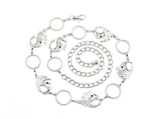 695 Silver Diamante Ladies Waist Belt - Lightweight Accessory - Adjustable Row Belt - Stunning Diamond Design - Women's Girdle By Trimming Shop