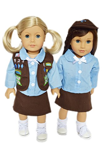 Brittany's Girl Scouts Brownie Outfit Compatible for American Girl Dolls