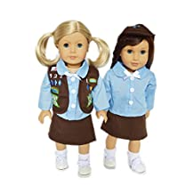 GIRLS SCOUTS BROWNIE OUTFIT FOR AMERICAN GIRL DOLLS AND MAPLELEA