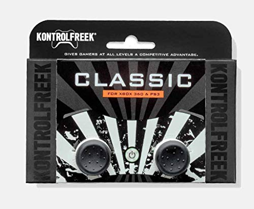 KontrolFreek Classic for PlayStation 3 (PS3) and Xbox 360 Controller | Performance Thumbsticks | 2 High-Rise Concave | Black